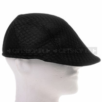 Black Mesh Flat Golfer Cap Sun Hat (Right)