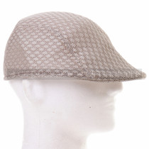 Light Brown Mesh Flat Golfer Cap Sun Hat (Right)