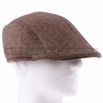 Flat Brown Plastic Golfer Cap Sun Hat (Right)