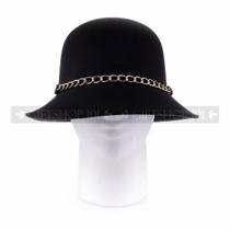 Women Summer Bucket Hat- Black (Front)
