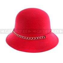 Women Summer Bucket Hat- Red
