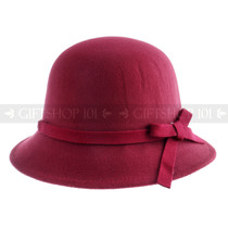 Women Summer Bucket Hat- Burgundy