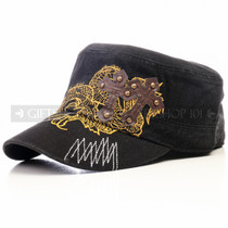 Swords and Cross Flat Black Summer Hat (Front)
