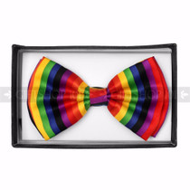 Bow Tie - Vertical Stripe Rainbow