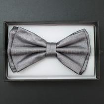 Bow Tie - Metallic Gray
