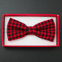 Kid's Bow Tie - Red and Black Plaid