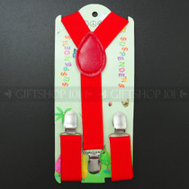 Kid's Suspenders - Red