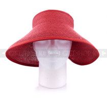Women Travel Size Summer Beach & Sun Visor- Pink