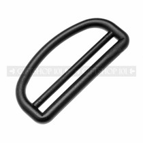 D Rings w/ Slide - Plastic - 2 Inch - Black