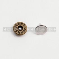 Jeans Rivet Arc Type - Metal - 9 mm - Antique Brass