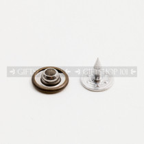 Jeans Rivet Arc Type - Metal - 9 mm - Antique Brass