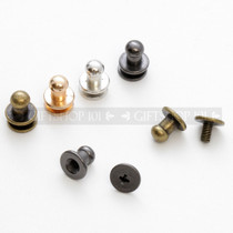 Screw Button Stud w/ Rhinestone - Metal - 10 mm