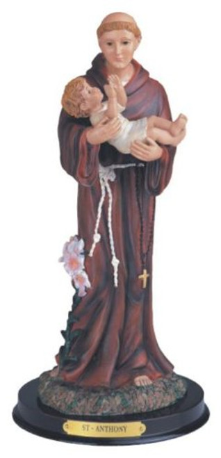 12 Inch Saint Anthony Holy Figurine Religious Decoration Statue Decor