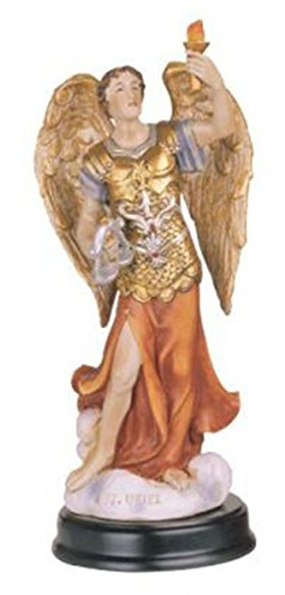 5-Inch Archangel Uriel Holy Figurine Religious Decoration Statue