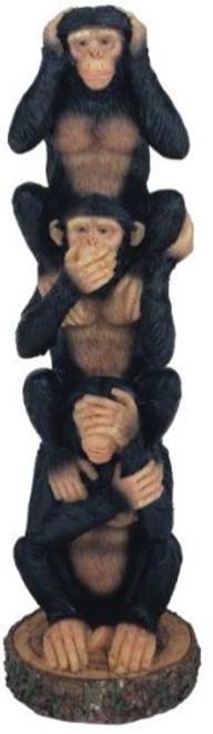Monkeys Set of 3 See Hear Speak No Evil Collectible Figurine Statue