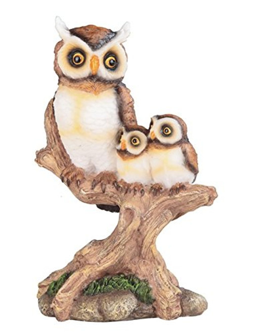 "7 1/2"" Height Owl Family on Bench for House and Kitchen Decoration and Display"