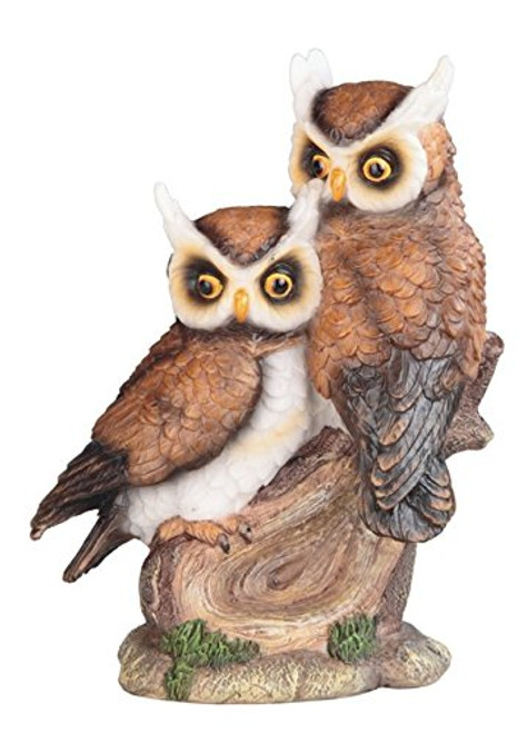 "7 1/2"" Height Owl Couple on Bench for House and Kitchen Decoration and Display"