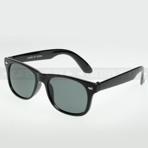 Retro Square Shape Classic Fashion Kids Sunglasses Black