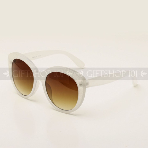 Butterfly Shape Carve Fashion Sunglasses 80643 White