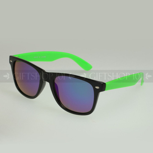 Retro Square Shape Mirror Lens Color Fashion Sunglasses 61TTARV  Green