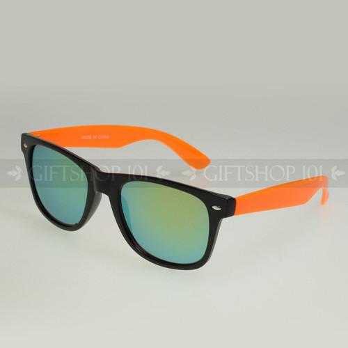 Retro Square Shape Mirror Lens Color Fashion Sunglasses 61TTARV  Orange