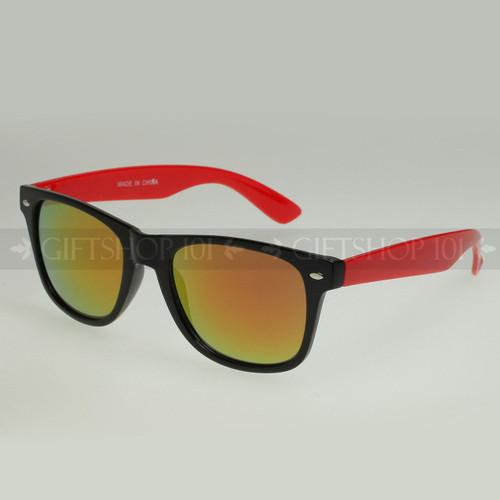 Retro Square Shape Mirror Lens Color Fashion Sunglasses 61TTARV  Red
