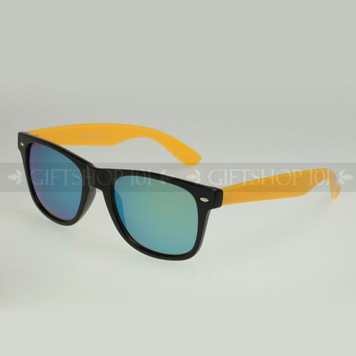 Retro Square Shape Mirror Lens Color Fashion Sunglasses 61TTARV  Yellow