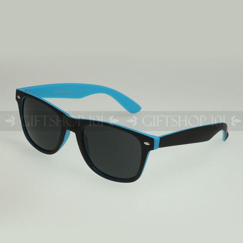 Retro Square Shape Color Frame Fashion Sunglasses 61TTBST Blue