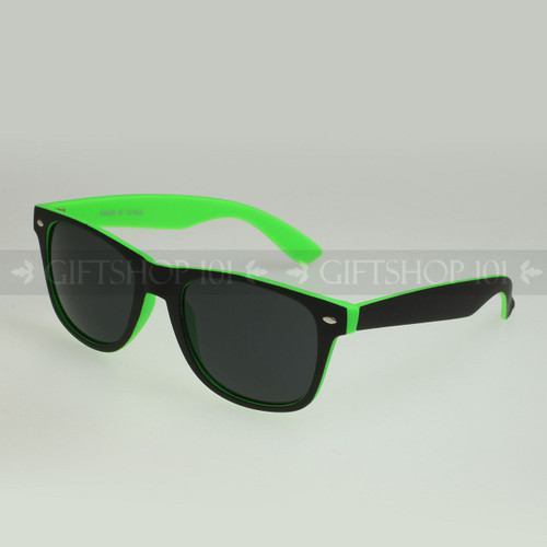 Retro Square Shape Color Frame Fashion Sunglasses 61TTBST Green