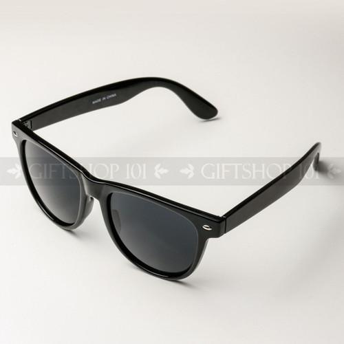 Retro Square Shape Classic Fashion Sunglasses 63BK Glossy Black