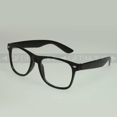 Retro Square Shape Classic Fashion Clear Lens Glasses 69MBKCLR Black