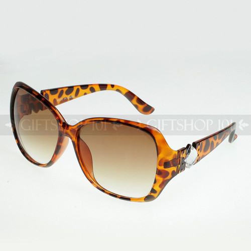 Square Shape Diamond Arm Fashion Sunglasses D9518 Tortoise