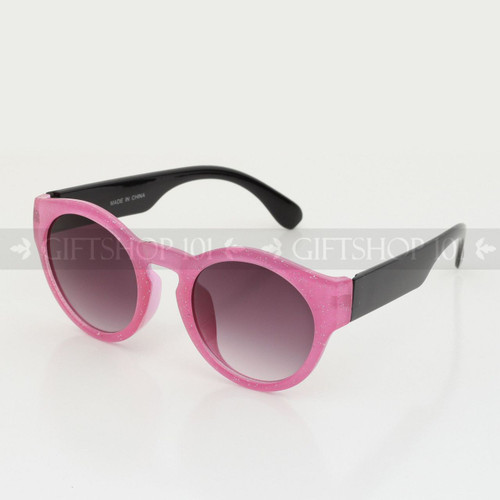 Round Shape Baroque Kids Sunglasses K79437 Pink Black