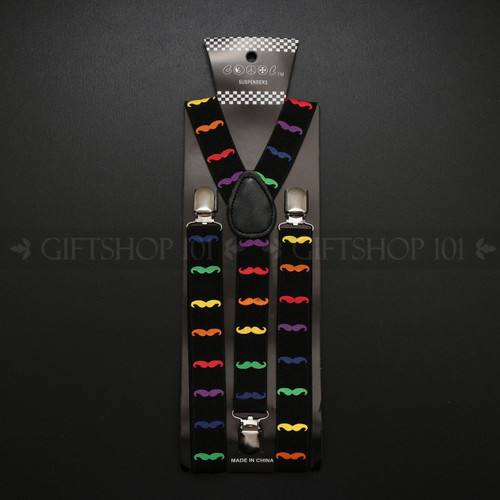 Suspenders Elastic - Color Mustache / Black