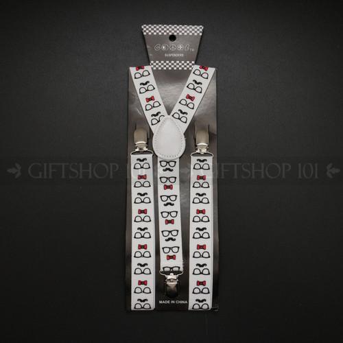 Suspenders Elastic - Nerd / White