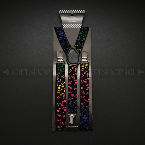 Suspenders Elastic - Color Note / Black