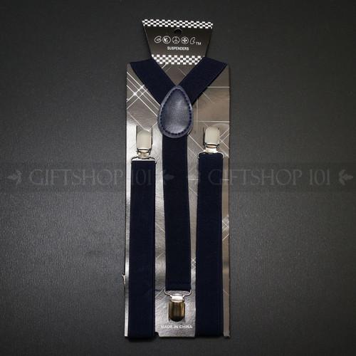 Suspenders Elastic - Navy Blue