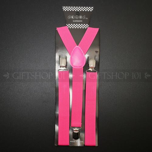 Suspenders Elastic - Hot Pink