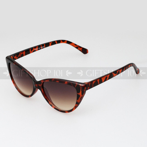 Cat Eye Shape Retro Fashion Sunglasses 80475 Tortoise