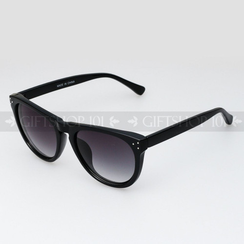 Retro Square Shape Retro Vintage Fashion Sunglasses 80634 Black