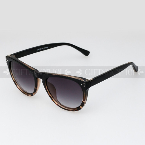 Retro Square Shape Retro Vintage Fashion Sunglasses 80634 Brown Clear