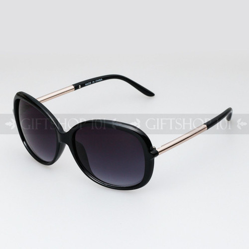 Square Shape Retro Large Fashion Sunglasses 89010 Black