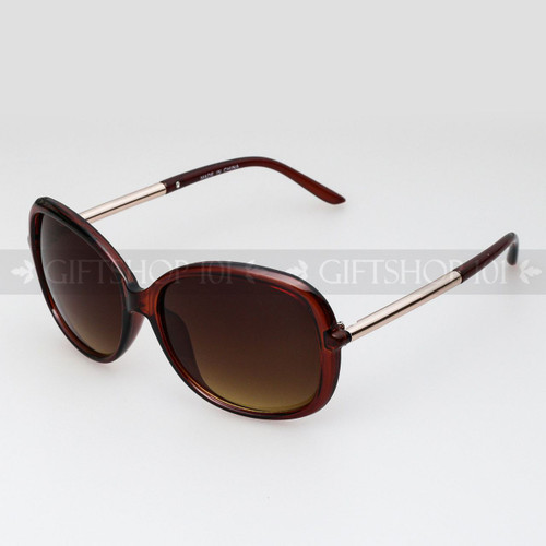 Square Shape Retro Large Fashion Sunglasses 89010 Brown