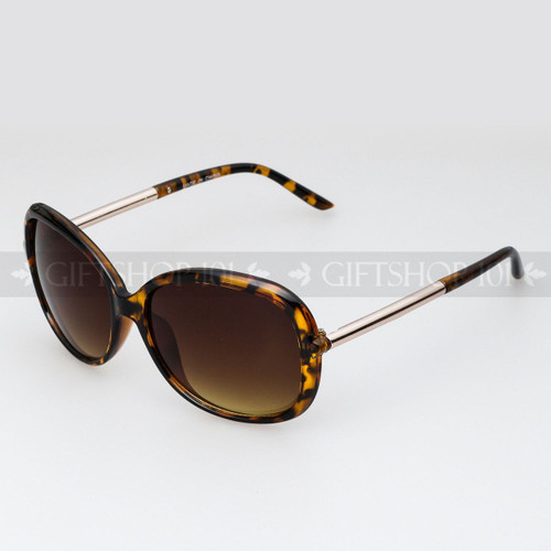Square Shape Retro Large Fashion Sunglasses 89010 Tortoise