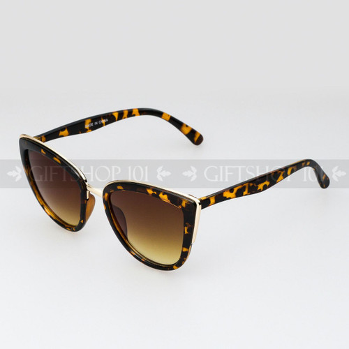Cat Eye Shape Retro Vintage Fashion Sunglasses 96002 Tortoise