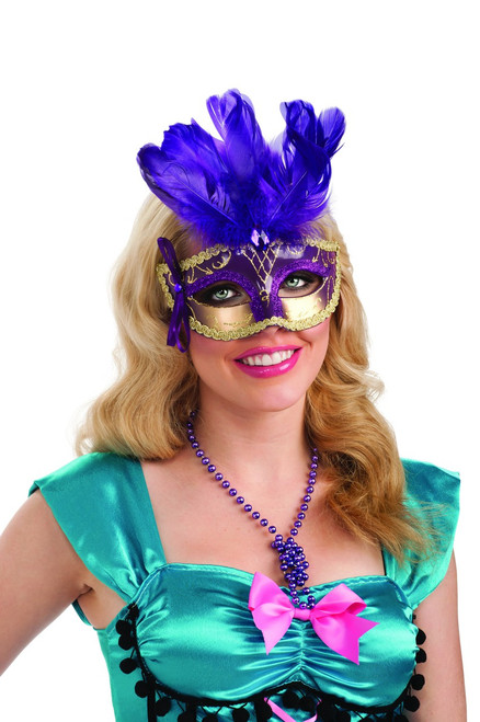 PURPLE FEATHER CARNIVAL M - Image 1