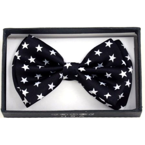 Bow Tie - White Star / Black