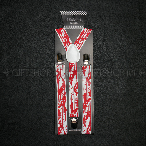 Suspenders Elastic - Bloody / White