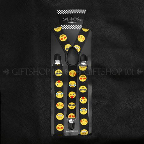 Suspenders Elastic - Emoji / Black
