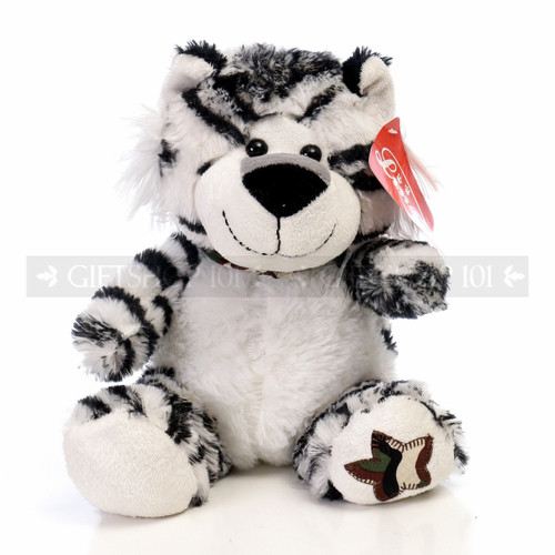 "10"" Violet Wild Soft Plush Toy Stuffed Animal - White Tiger - Image 1"